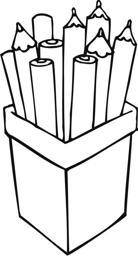 Pencil Holder Desk Organizer Coloring Page
