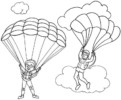 7 Fun and Favourite Parachute Coloring Pages for Children