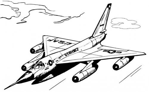 Printable Military Fighter Jet Coloring Pages