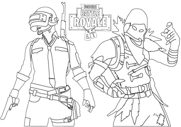 Raven and Fornite Coloring Page