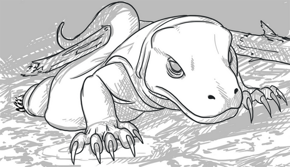 Scary Komodo Dragon Coloring Page