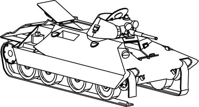 Soviet BT SV Tank Coloring Page