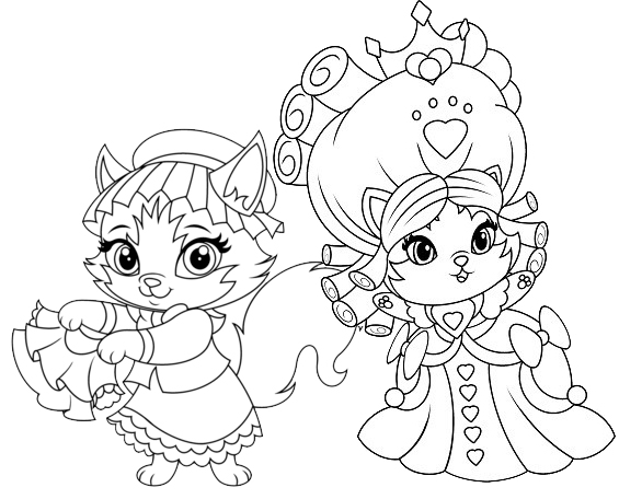 Tillie and Jane Hair Whisker Haven Coloring Page