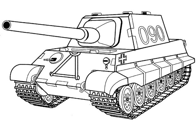 US Tank Coloring Page Printable