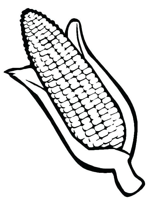 Vegetable Corn Coloring Page