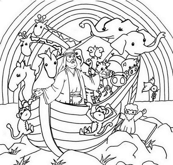 a picture of noah ark coloring page for kids