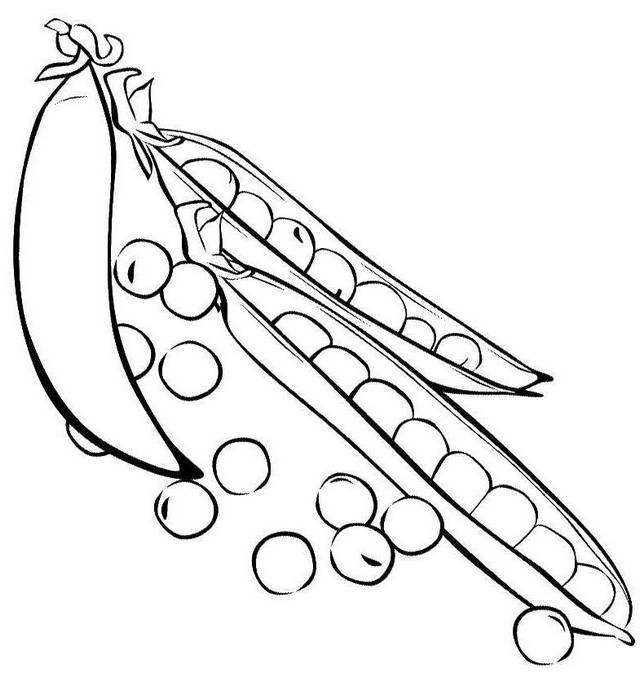 best peas coloring page