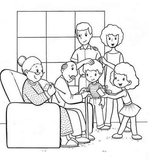 family time coloring pages for kids