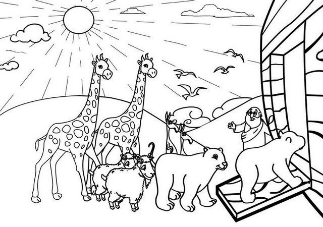 fantastic noahs ark coloring pages