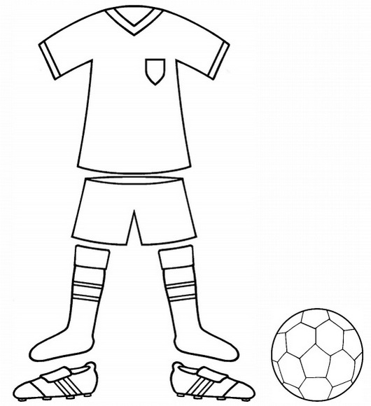 football kit and uniform colouring page