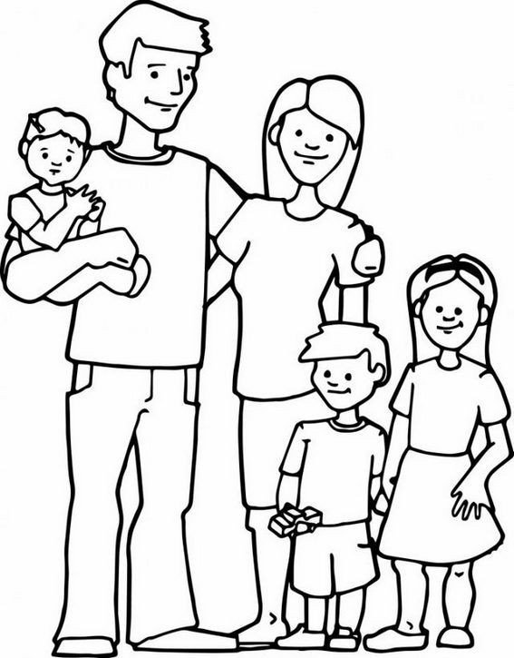 happy family member coloring pages