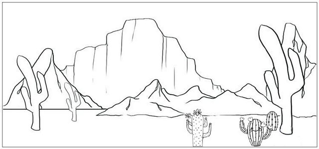largest mountain desert coloring page