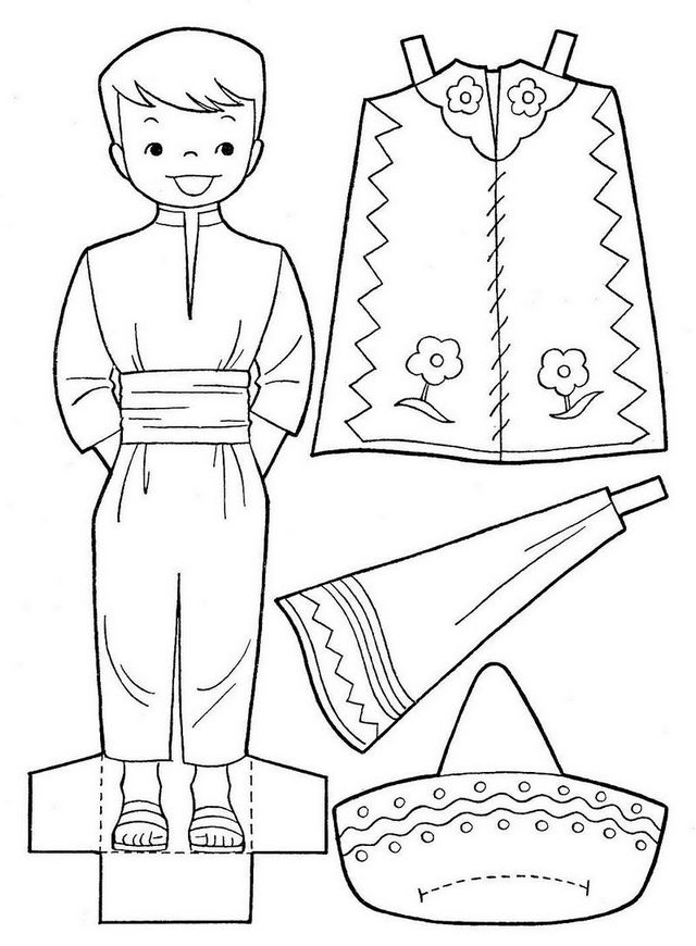 mariachi uniform coloring page