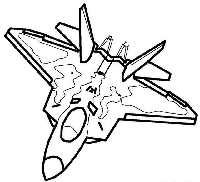 military airplane coloring page