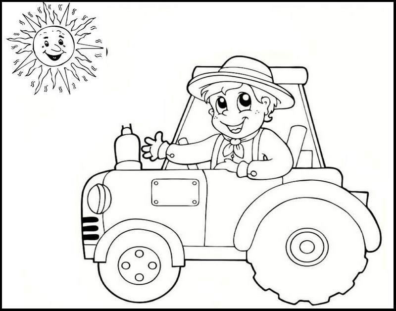 Tractor Coloring Pages to Teach about Farm Literacy - Coloring Pages