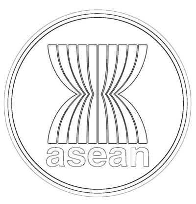 ASEAN Logo Coloring Page