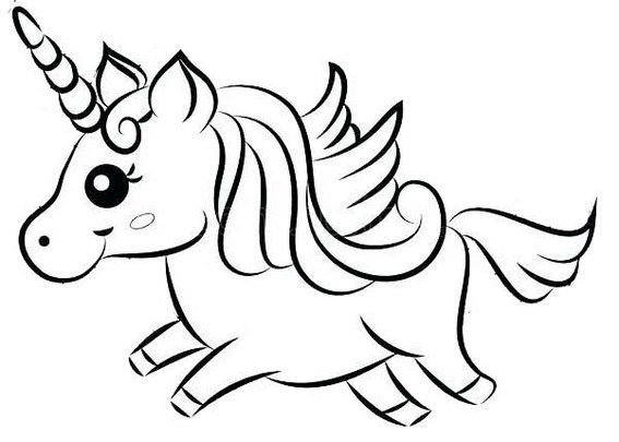 Best Baby Unicorn Coloring Page for Kids