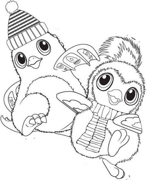 Best Hatchimals Toy Coloring Page