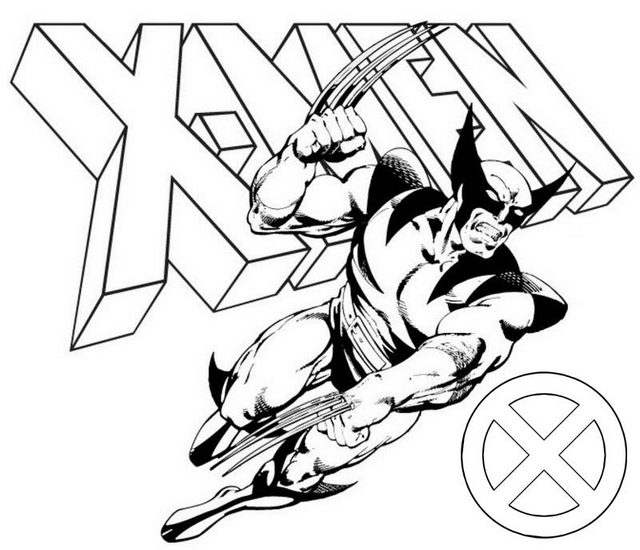 Best Wolverine X Men Coloring Page for Action Figure Fans