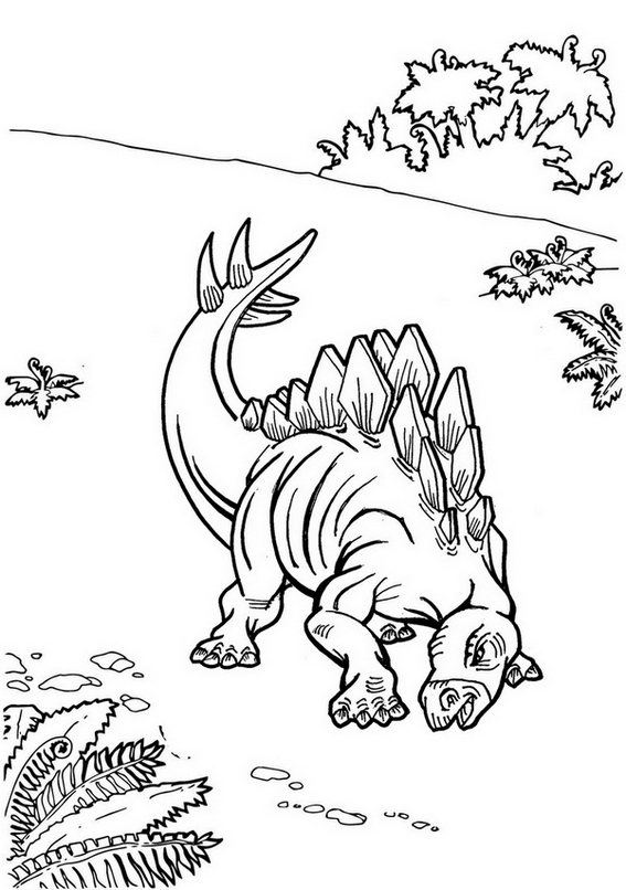 Detailed stegosaurus coloring page jurassic world