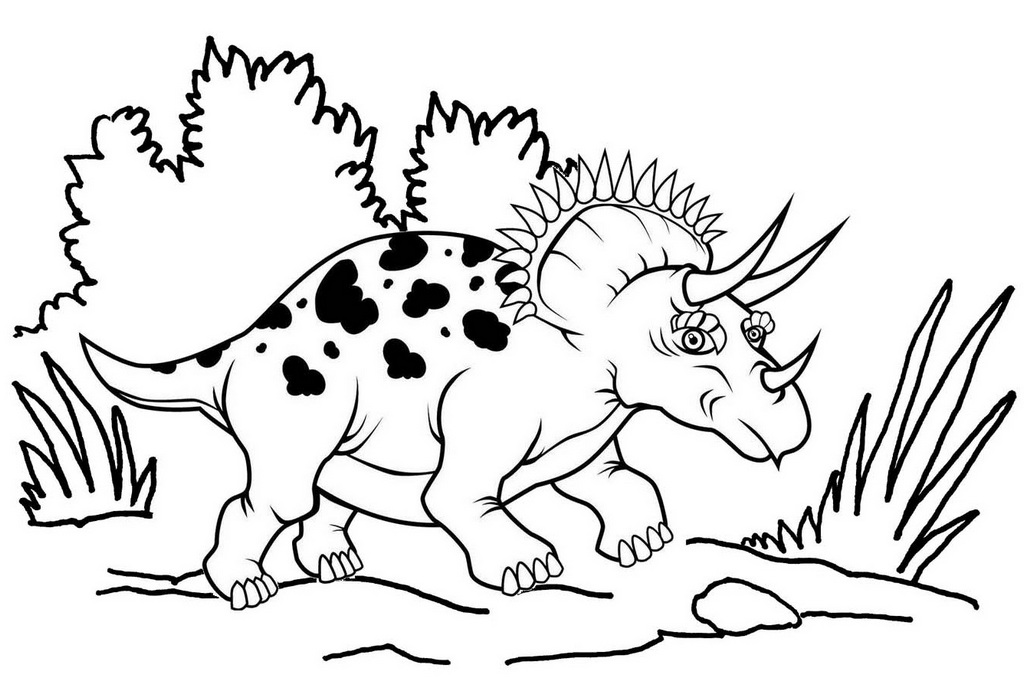 Great Triceratops Coloring Page ready to print