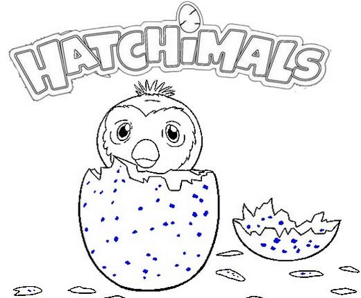 Hatchimals Pengualas Egg Coloring Page