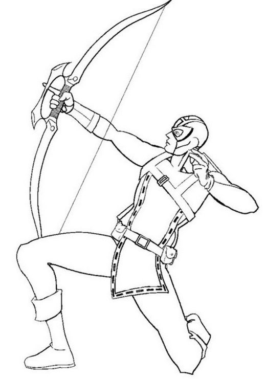 Hawkeye Cartoon Coloring Page