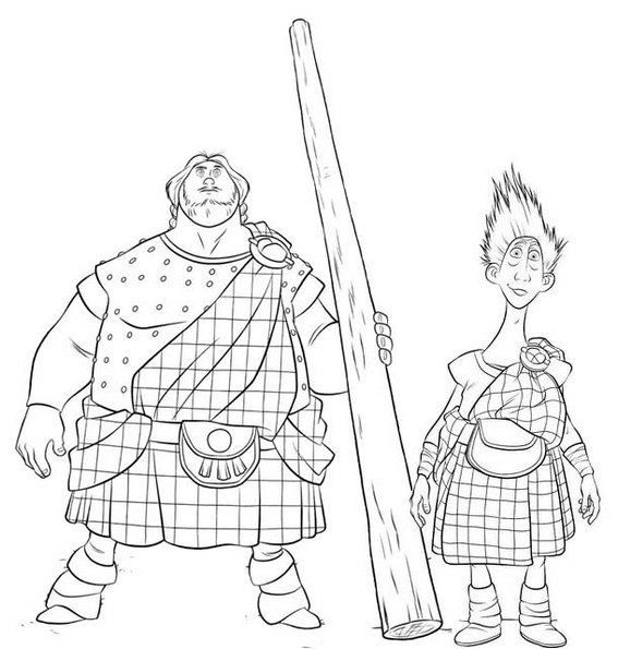 MacGuffin and Wee Dingwall from Disney Brave Coloring Page