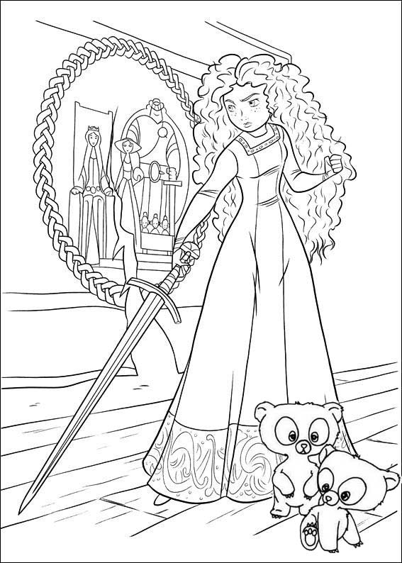 Princess Merida Disney Brave Coloring Page