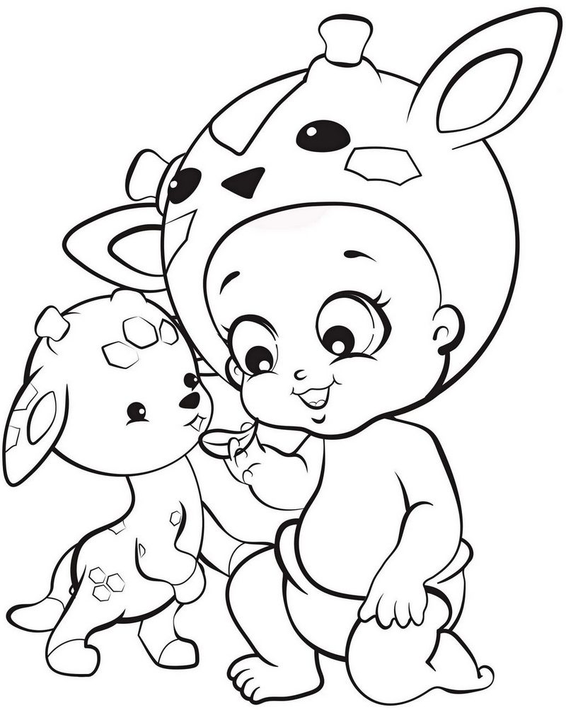 Twozies Girafe Coloring Page