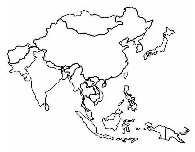 asia territory map coloring page