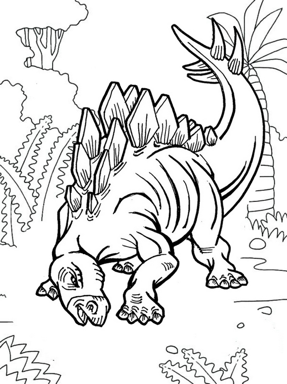 best stegosaurus coloring page