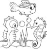 13 Fun Original and Cartoon Baby Seahorse Coloring Pages