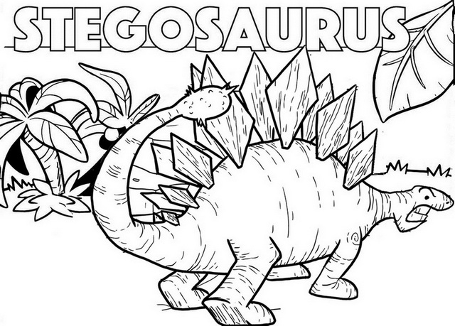 great stegosaurus coloring page