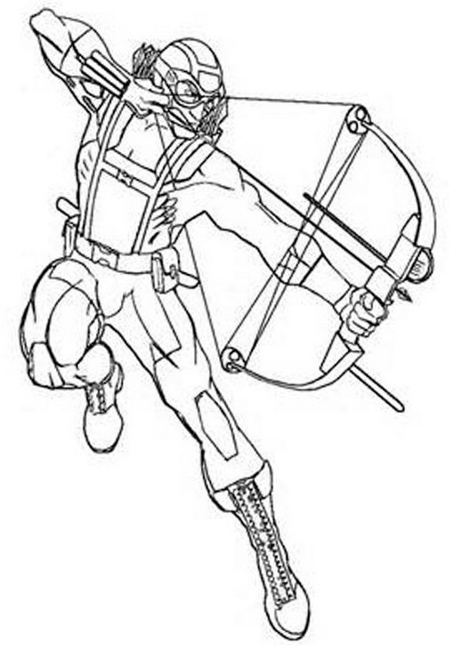 hawkeye American comic books coloring pages