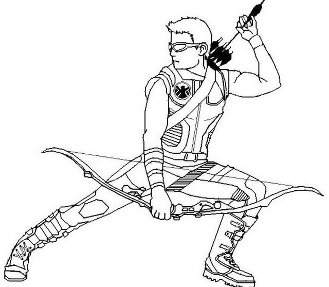 hawkeye superhero coloring pages