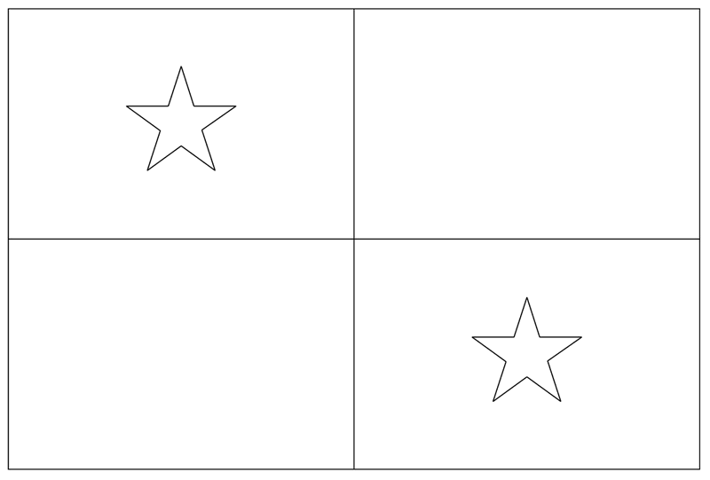 the national flag of panama coloring page