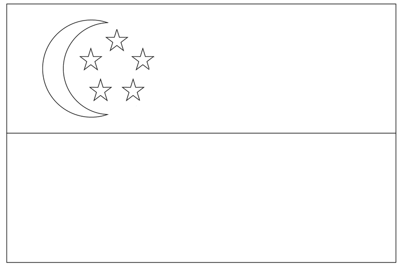 the national flag of singapore coloring page