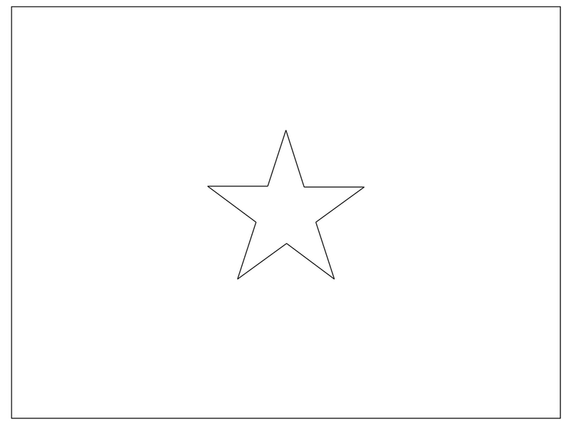 the national flag of vietnam coloring page