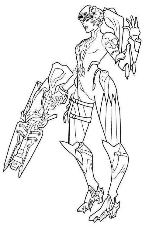 widowmaker overwatch hero coloring page
