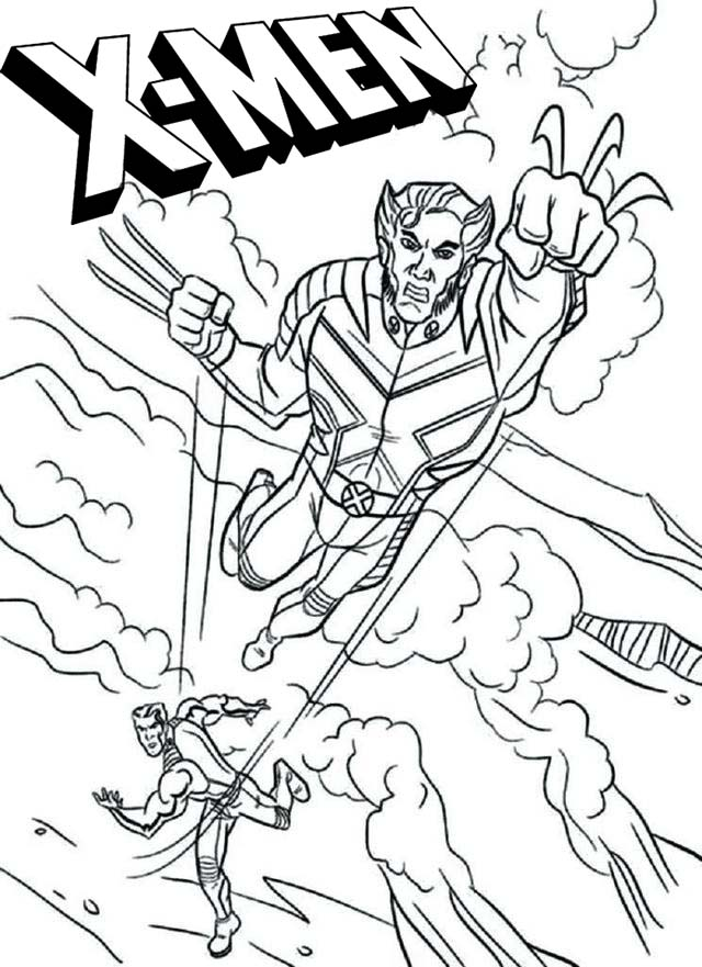 x men coloring pages for marvel comics fans