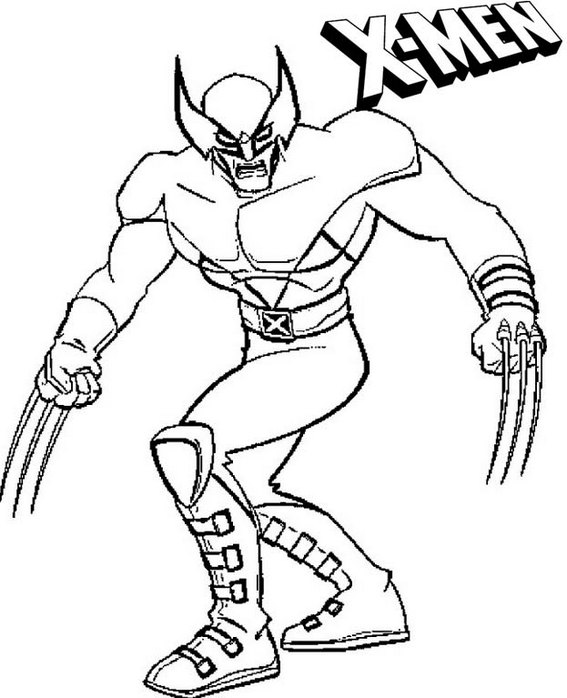 x men marvel coloring pages for kids