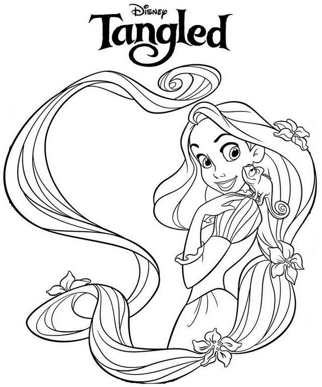 Beautiful Princess Rapunzel Coloring Page