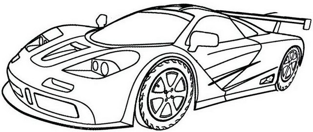 Best Bugatti Super Sports Car Coloring Page