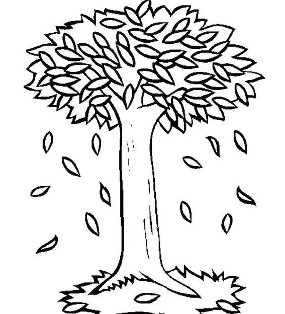 Best Fall Tree Coloring Pages for Children
