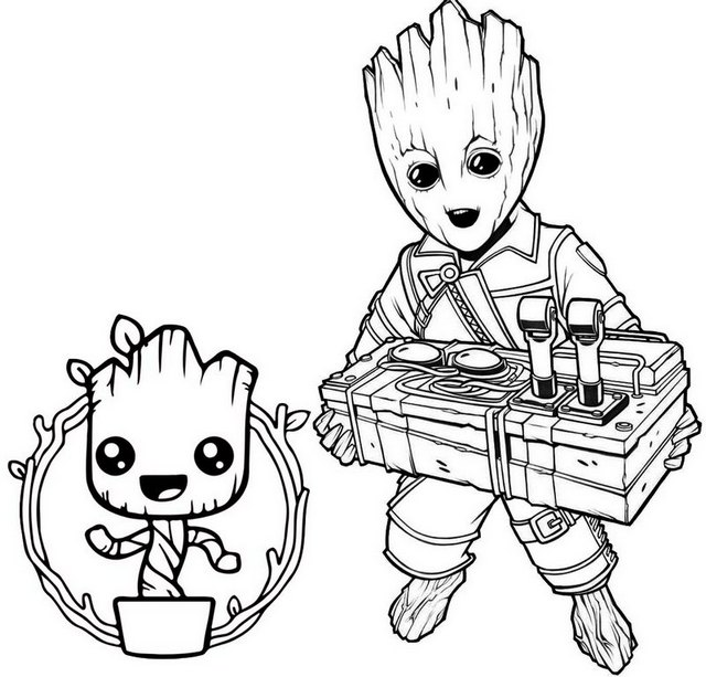 7 Fun Groot Coloring Pages For Marvel Fans Coloring Pages