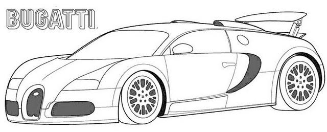 Bugatti Chiron car coloring page