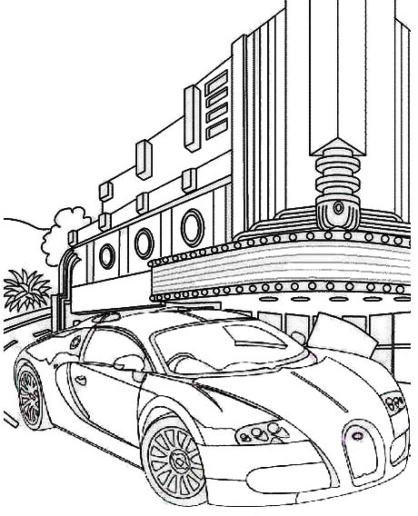 Bugatti Divo car coloring page
