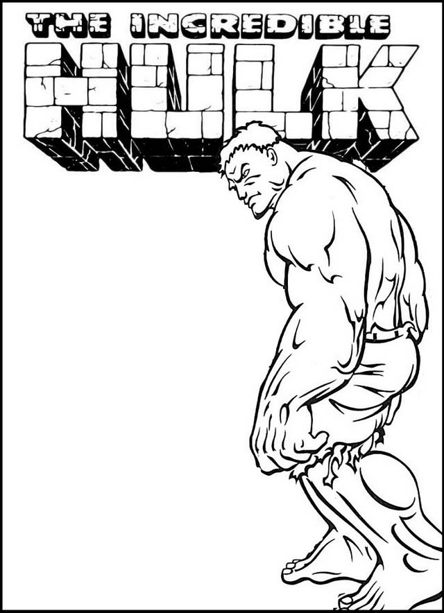 Cool Hulk Coloring Page Printable