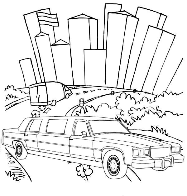 Exlusive Limousine coloring page